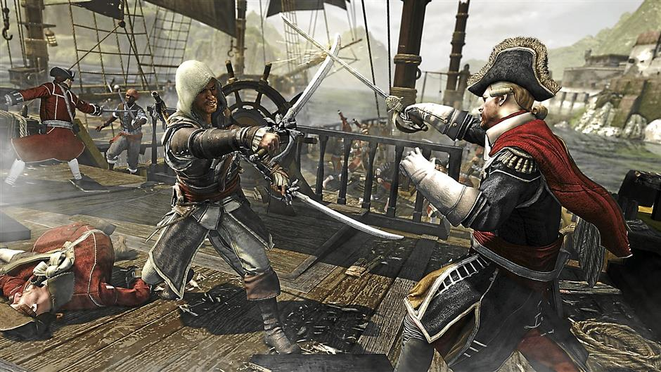Armed to the teeth: your arsenal of weapons in Assassin's Creed: IV Black Flag include twin swords, twin guns and your hidden blade