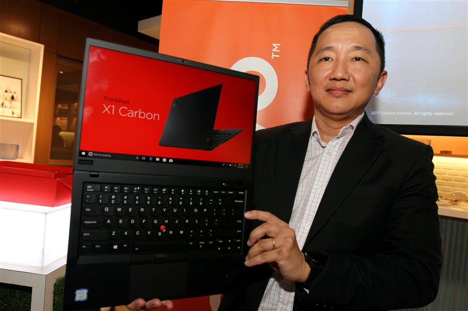 The newly launched Lenovo Thinkpad X1 Tablet, Yoga and Carbon.