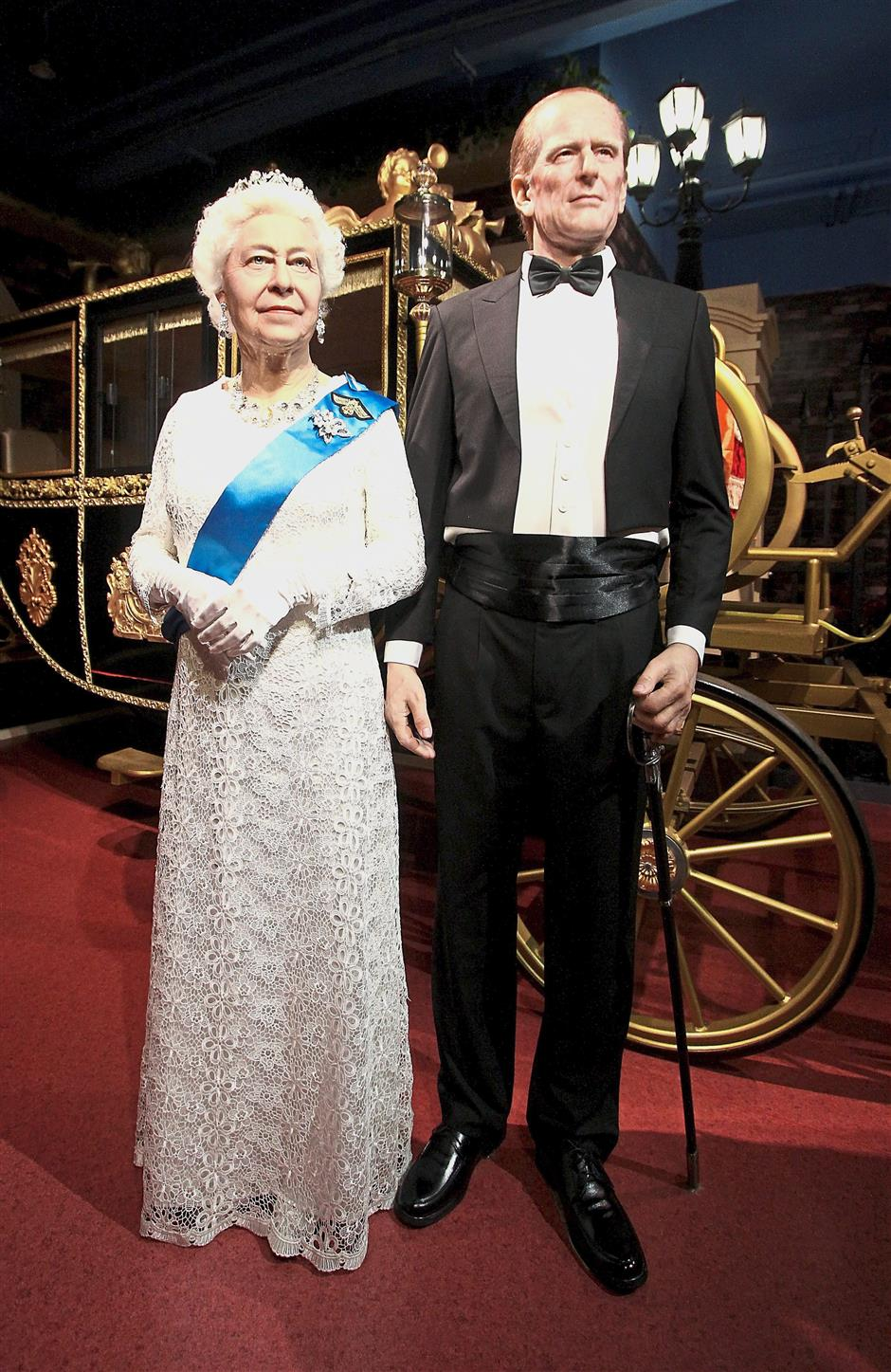 Queen Elizabeth and Prince Philip wax models at i-City's Red Carpet 2.