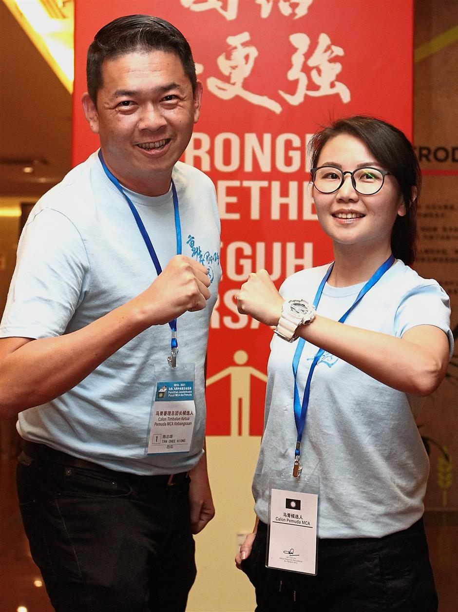 Winning duo: Wong and Tan ready to take on their roles after their victory at the partyu2019s polls.