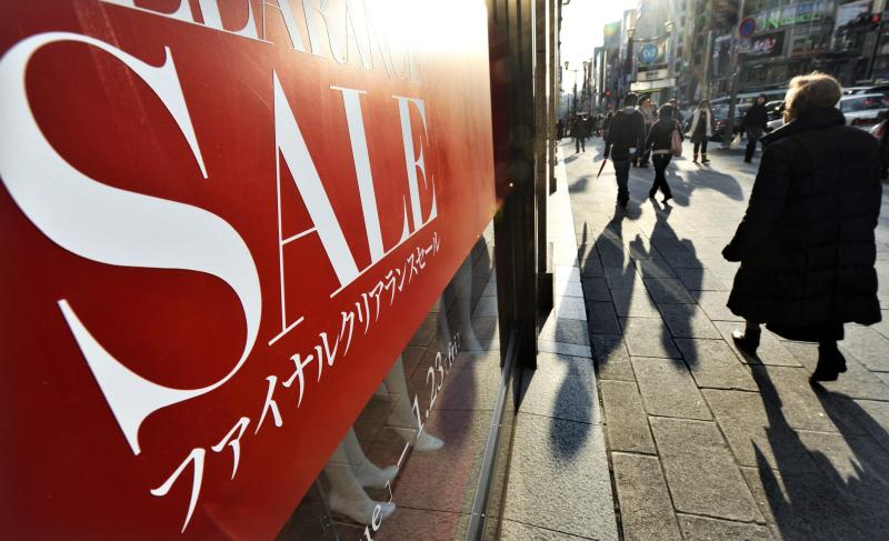 The Japanese economy contracted 1.8% quarter-on-quarter in the three months to June u2013 or 7.1% on an annualised basis following the tax hike from 5% to 8% on April 1, 2014, casting doubts on whether the government will to raise it further to 10% next year - EPA Photo.