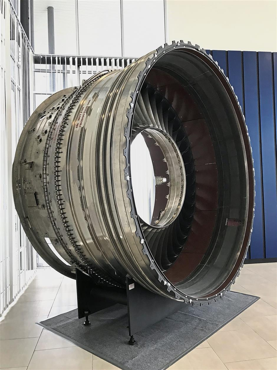 Future star: UMWu2019s venture into the precision manufacturing industry includes making engine fan cases for Rolls-Royce. An engine fan case consists of 4,000 components and it is one of the largest parts of the engine.
