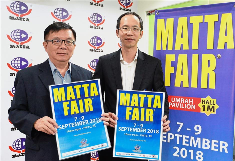 Come join the fair: Phua (left) and Wong at the MATTA Fair September 2018 press conference.