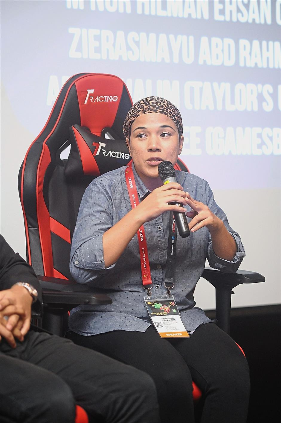 Zierasmayu believes building an ecosystem for eSports players needs to start from university. — LevelUp KL 2018