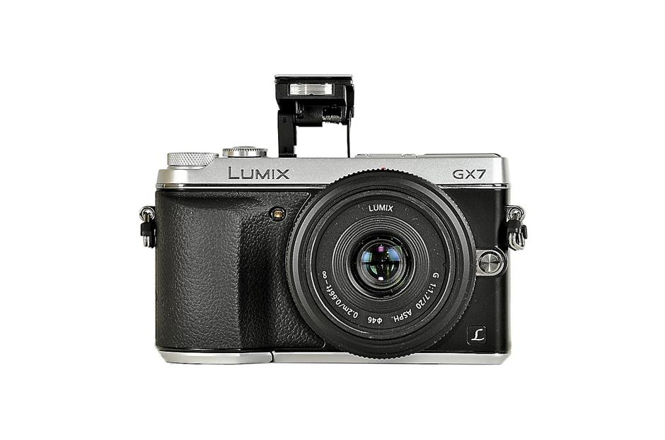 Pop goes the flash: The GX7's pop-up flash comes in handy when the lighting is too dark.