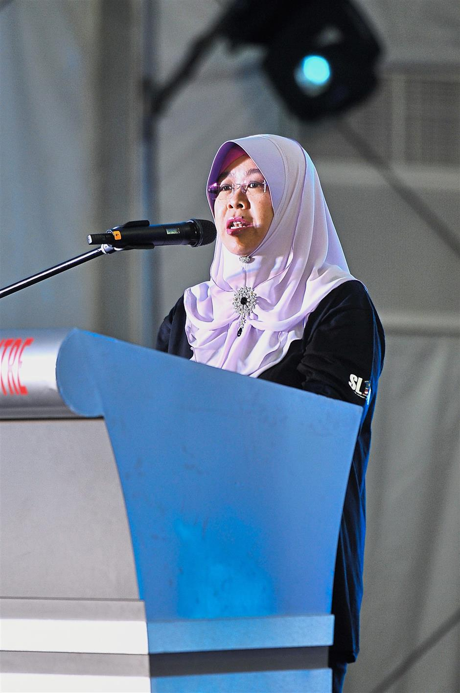 Reaching to more: Norashikin hopes to help more than 25,000 graduates this year and also ensure they get a good job to support their families.