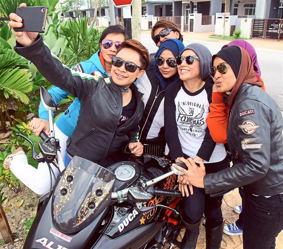 The all-women riders of Desmodonna meet regularly to share their passion for motorcycling and other things as well.