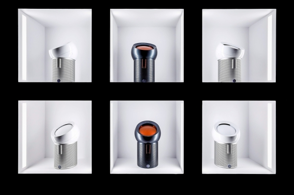 The Pure Cool Me has a 70u00b0 oscillation range, and by adjusting the dome at the top of the machine, users can control the angle of the airflow. u2014 Photos: Dyson