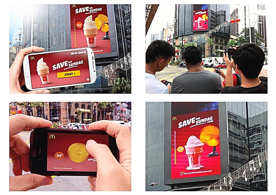 One of Leo Burnett's recent ad campaign for McDonald's entitled Save the Sundae Cone