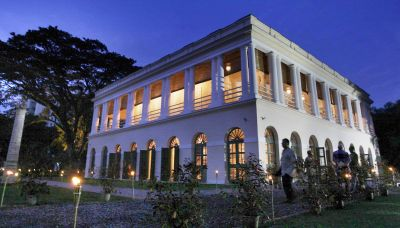 Standing proud: The restored Suffolk House shines brightly in its restored grandeur.