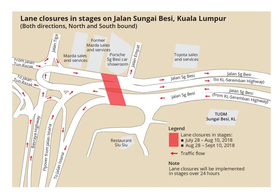 Road Closure In Kl City Centre The Star