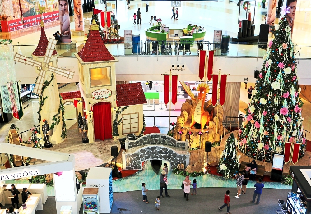 A dragon that flaps its wings and knights in shining armour take shoppers at IOI City Mall  Putrajaya to the Middle Ages.