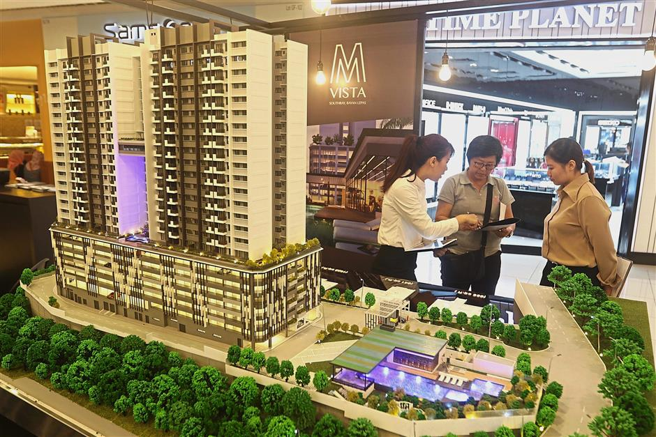 A potential buyer making inquiries on the M Vista project by Mah Sing Group Berhad.