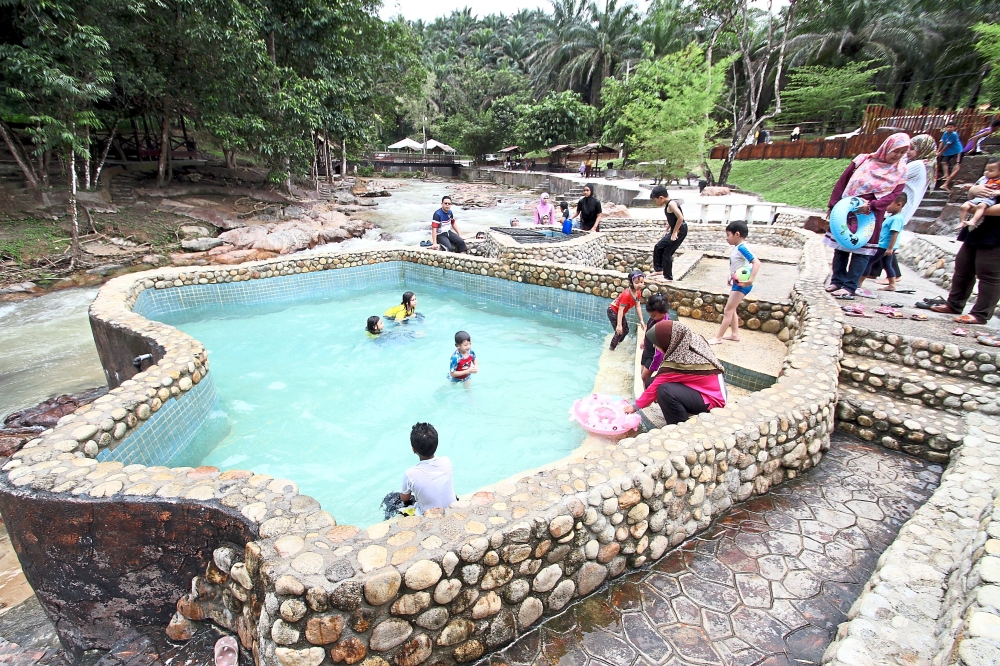 Lubuk Timah Hot Springs is also part of the Kinta Valley National Geopark.