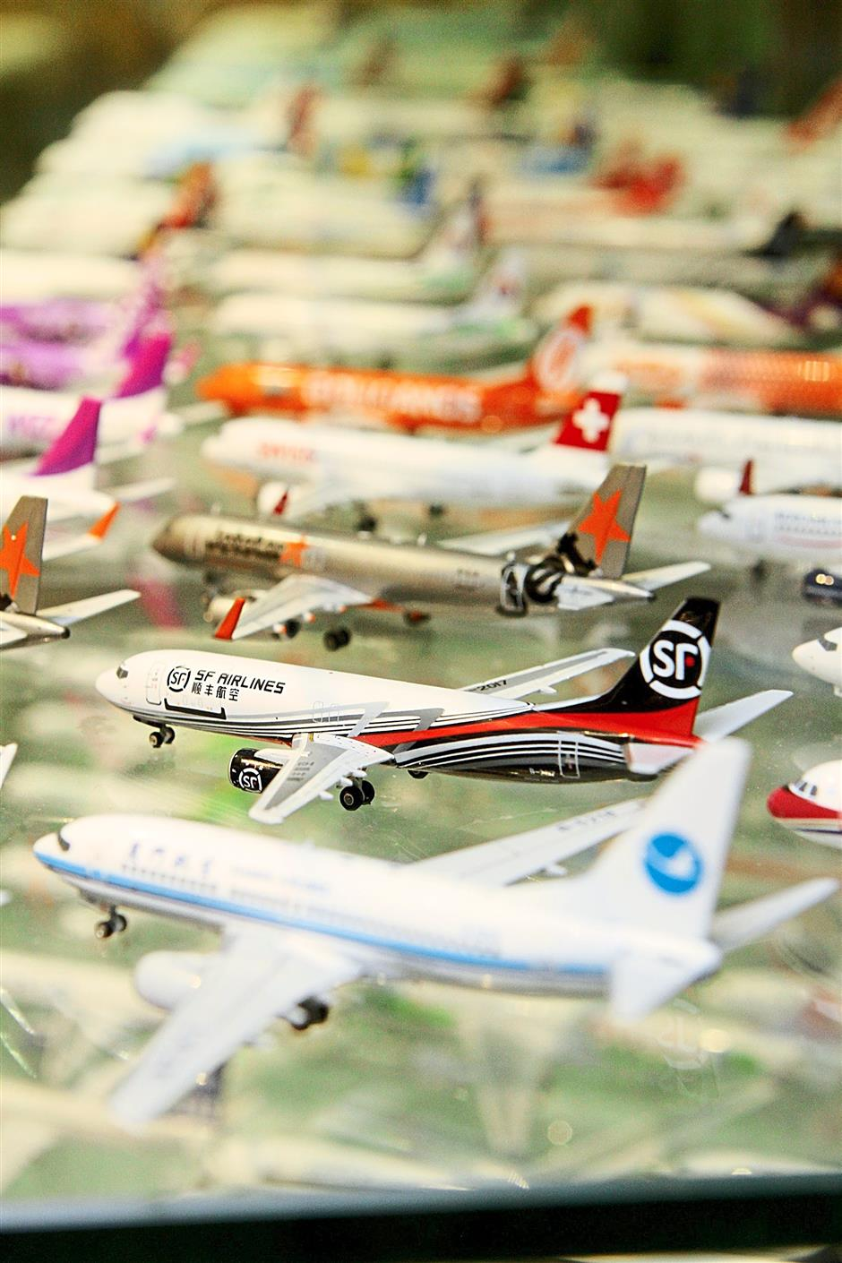 My Hobby House stocks up on a wide variety of miniature commercial airplanes for collectors and aviation enthusiasts.— Photos by Yap Chee Hong