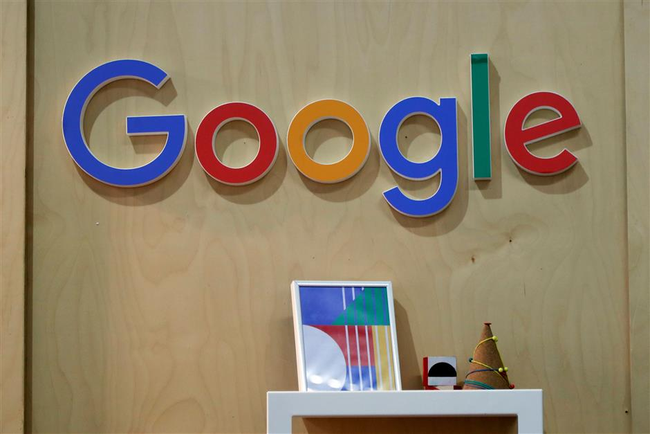 FILE PHOTO: The Google logo is seen at the Young Entrepreneurs fair in Paris, France, February 7, 2018. REUTERS/Charles Platiau /File Photo