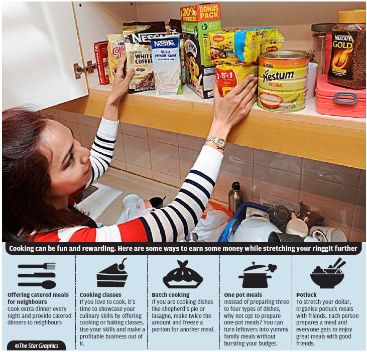 Cooking can be made fun and rewarding. Here are some ways to earn some money while stretching your ringgit further.