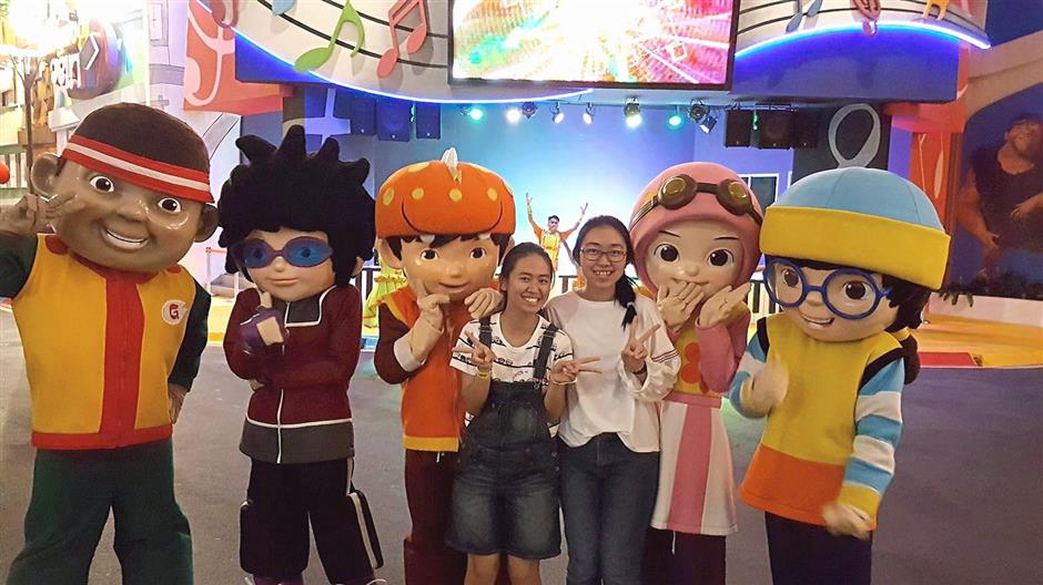 The meet-and-greet sessions with popular mascots BoBoiBoy.