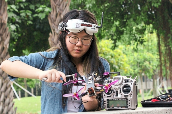Saw says that drone racing is all about skills and nothing about gender. — SHAARI CHEMAT/The Star