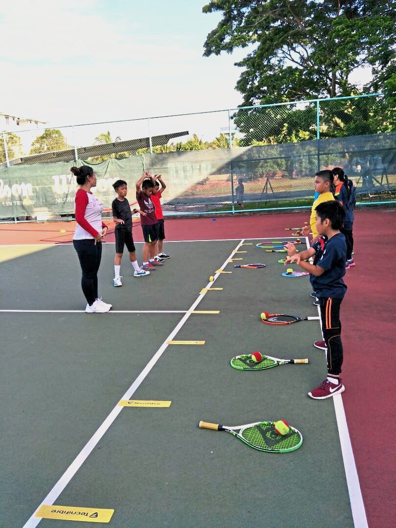 Miri Division Lawn Tennis Association (MDLTA) juniors learn the ropes through their weekly training sessions.