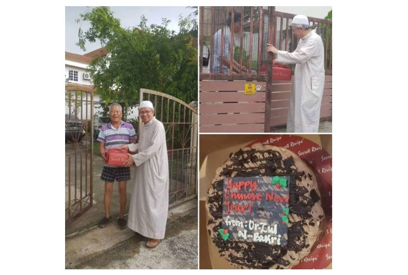 FT Mufti gifts Chinese neighbours with cakes in conjunction