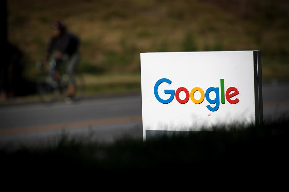 Signage is displayed in front of Google Inc. headquarters in Mountain View, California, U.S., on Wednesday, April 25, 2018. Alphabet Inc. is pushing efforts to roll back the most comprehensive biometric privacy law in the U.S., even as the company and its peers face heightened scrutiny after the unauthorized sharing of data at Facebook Inc. Photographer: David Paul Morris/Bloomberg