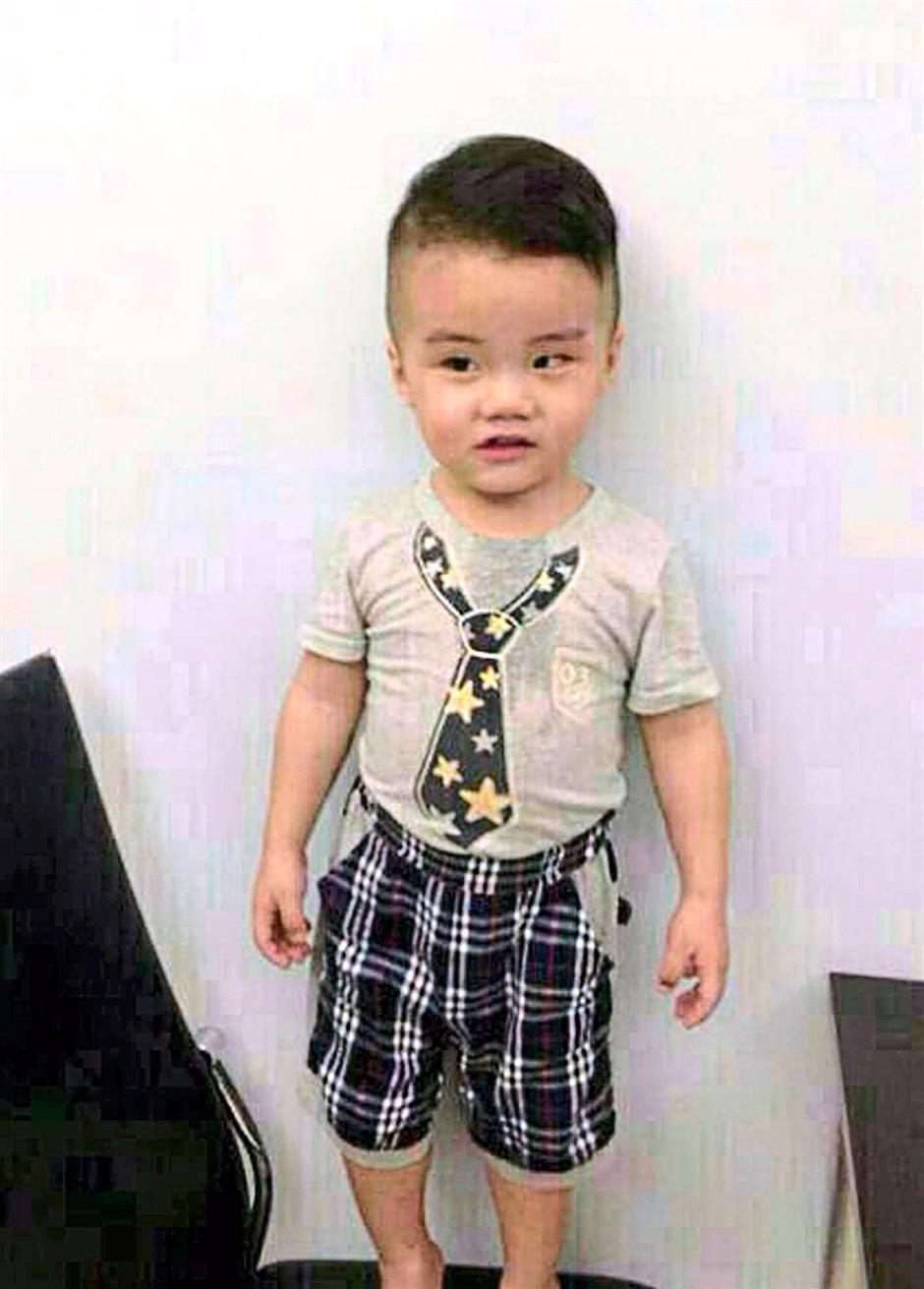 A boy missing after a car hijacking at Kampung Air early morning in Kota Kinabalu yesterday.