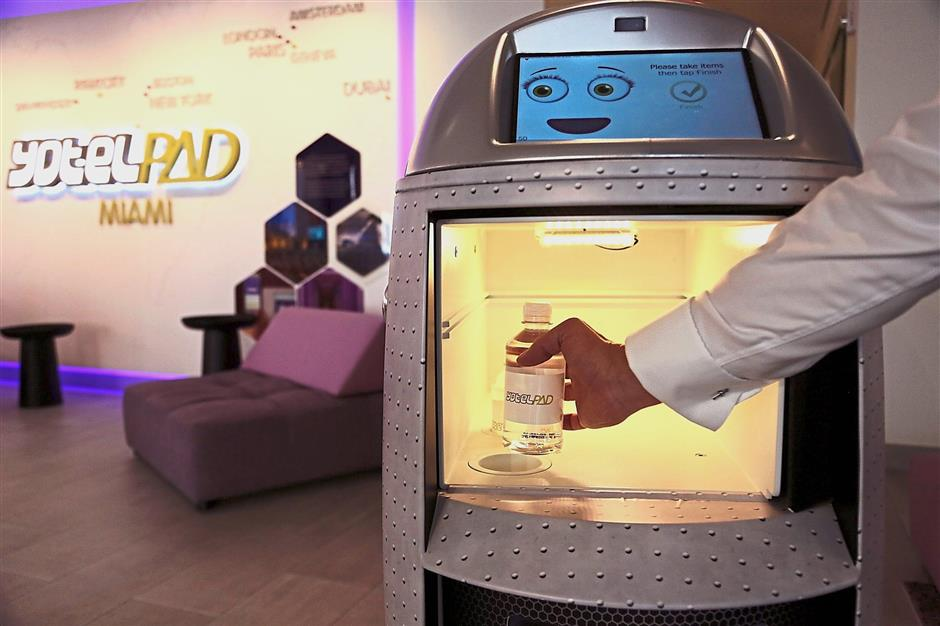 The robots have several different greetings and verbal responses and features a touchscreen with various facial expressions.