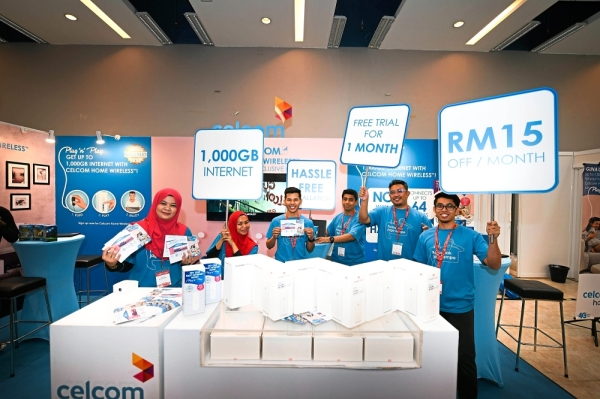 Look out for the Celcom booth at Perfect Livin u201819 expo.