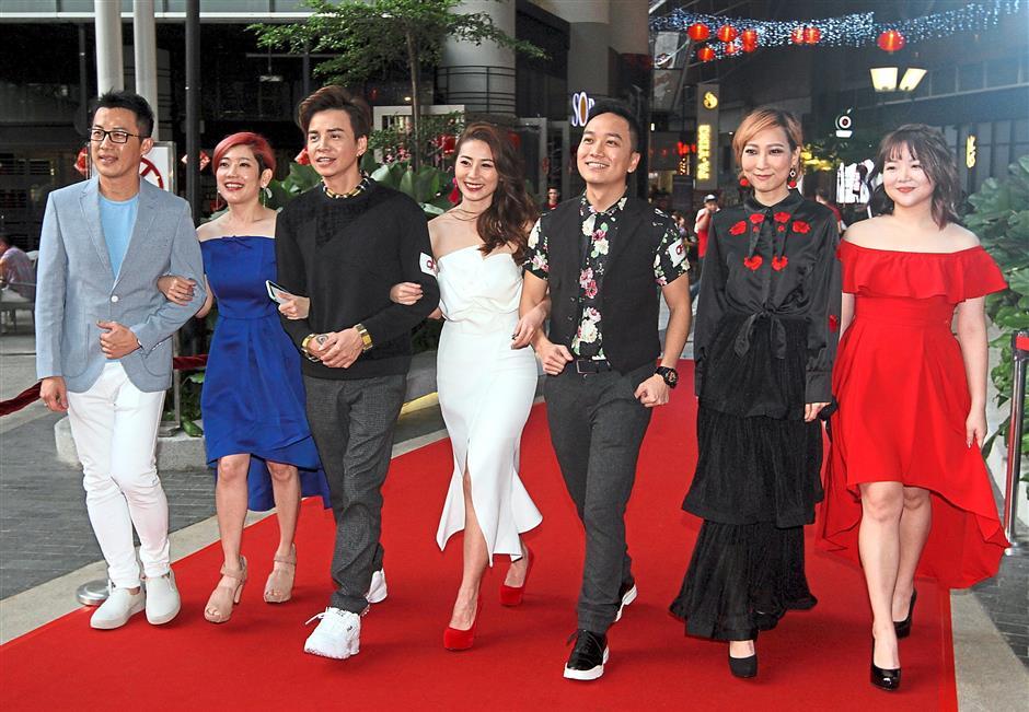 (From left) Sean, Mak, Danny One, Soo, Anson, Hau Min and Cynthia.
