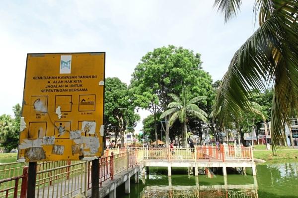 Light bulbs will be installed along the bridge to beautify the park. — Photos: AZMAN GHANI/The Star
