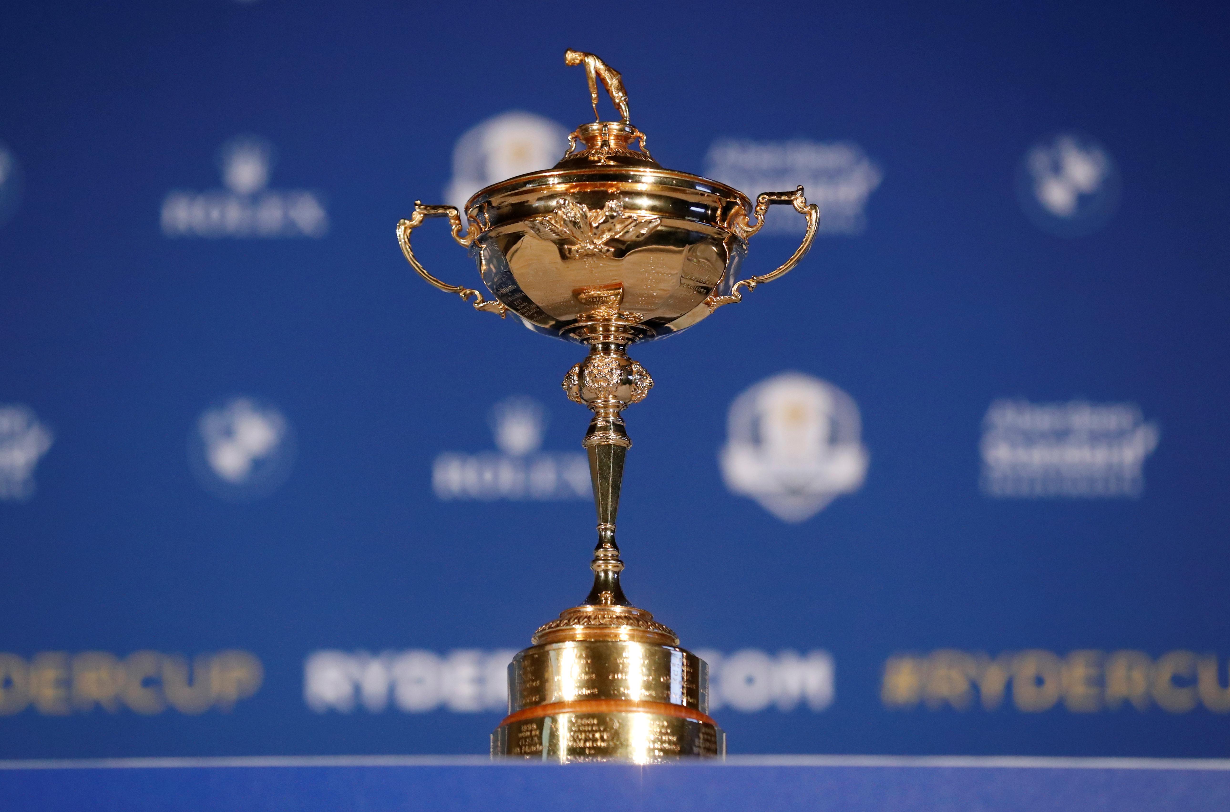 FILE PHOTO - Golf - Ryder Cup - European Tour announce captain for 2020 Ryder Cup - Wentworth Club, Virginia Water, Britain - January 8, 2019   General view of the Ryder Cup before the announcement   Action Images via Reuters/Peter Cziborra