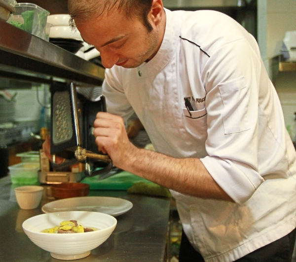Ruggiero does not overwork ingredients, preferring to maintain the originality of the produce.