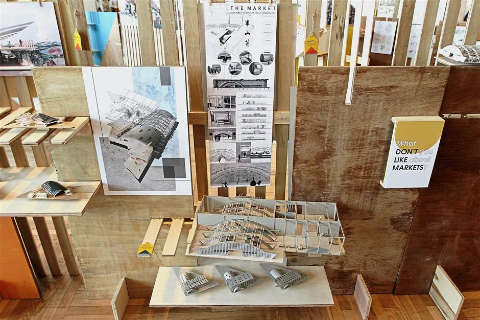 Scale models of the students' vision of the Pudu Market in the future.
