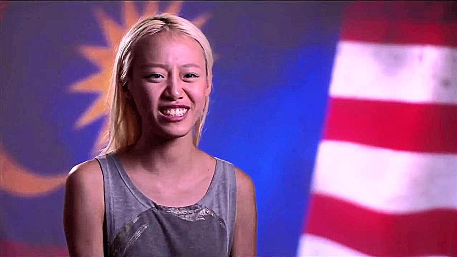Whenever the going got tough, Liam said the image of the Malaysian flag behind her during the 'confession room' interviews helped keep her going.