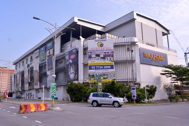 Basement wall collapsed in Citta Mall, PJ, due to heavy