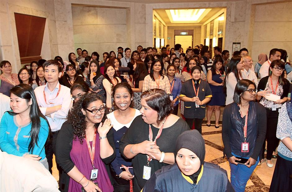 Big turnout: The Star employees enjoying the performances during the event.