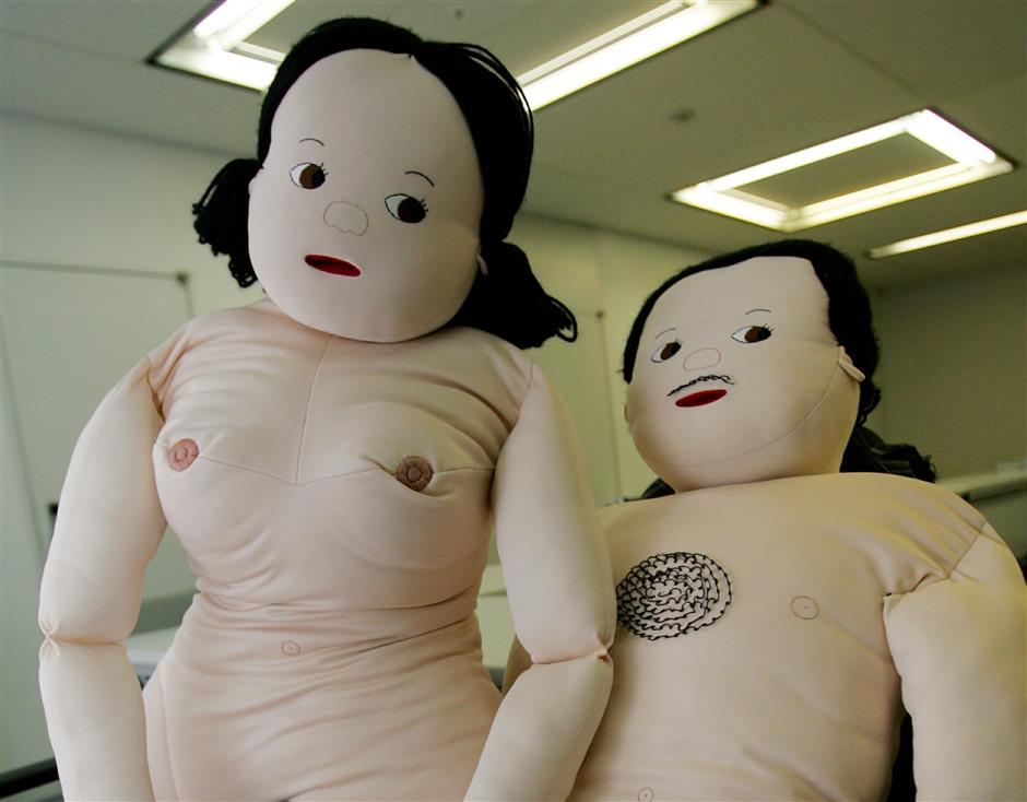 Male and female dolls are used in the classrooms to teach students abouit their body.