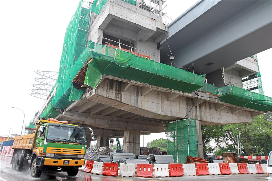 Kajang is busy with the construction of the MRT station.