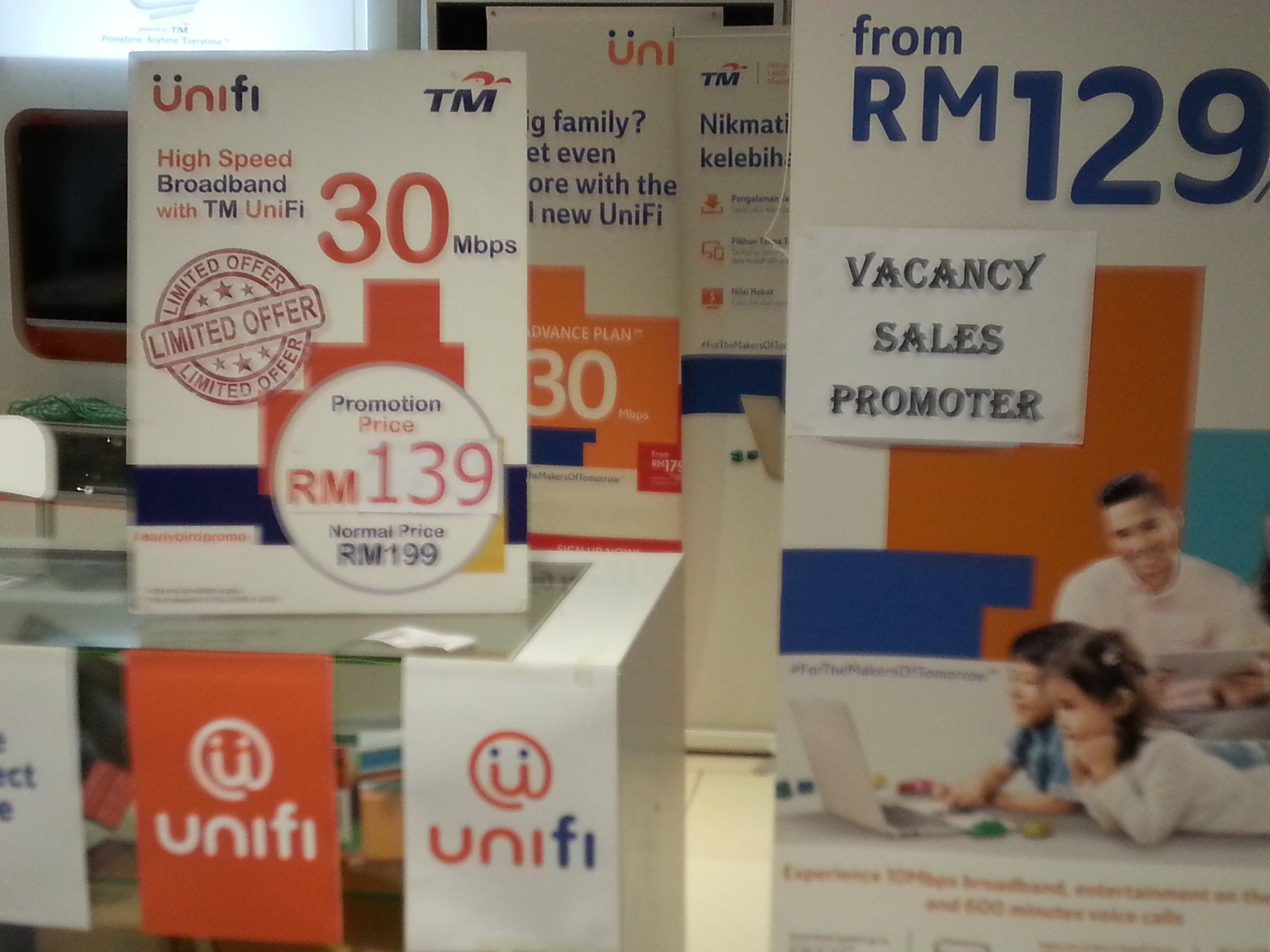Affordable 30Mbps unifi below RM100 for poorer folks, others get