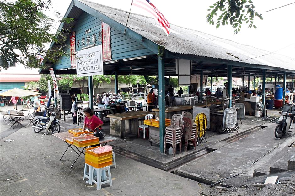 The former Chinese settlement of Ampang New Village has changed over the years, with the establishment of its own market.