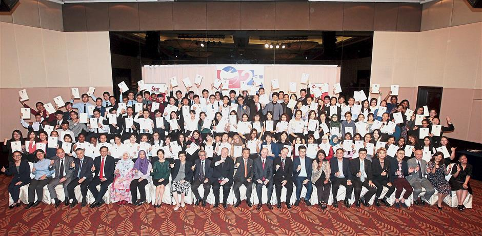 One for the album with Star Media Group management, partners, alumni and this year's scholarship recipients at the fund's silver anniversary celebration.