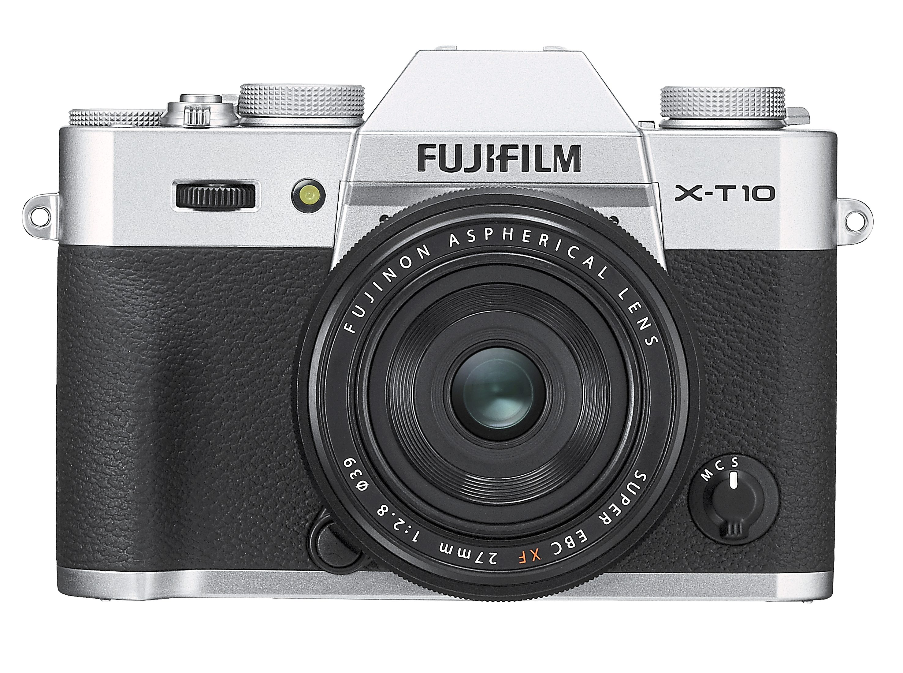 Retro design: the Fuji X-T10 would look right at home with your classic leather luggage.