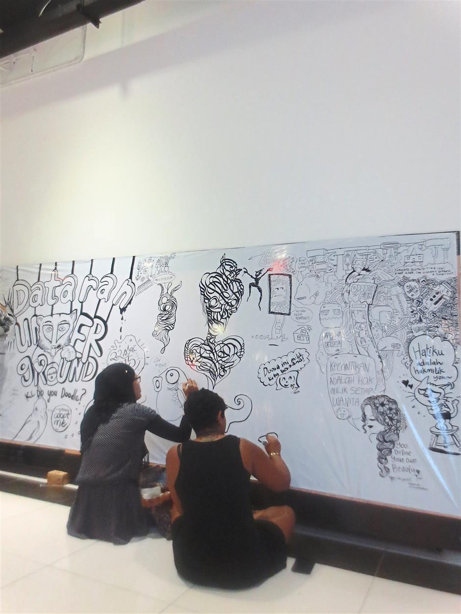 From blank canvas to doodle masterpiece.
