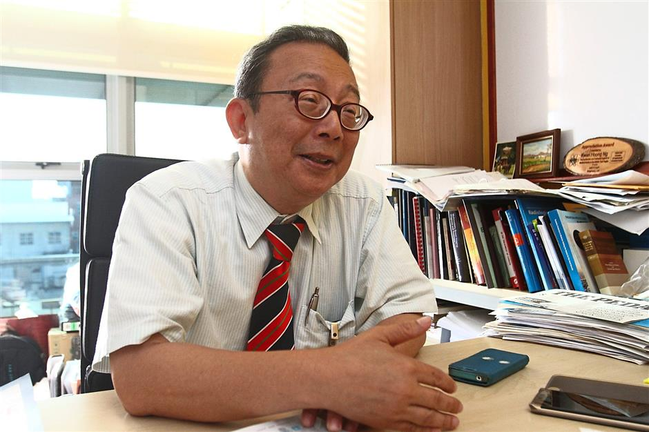 Prof Ng: 'Although mobile phones are a source of radiation, they aren't detrimental to our general health.'