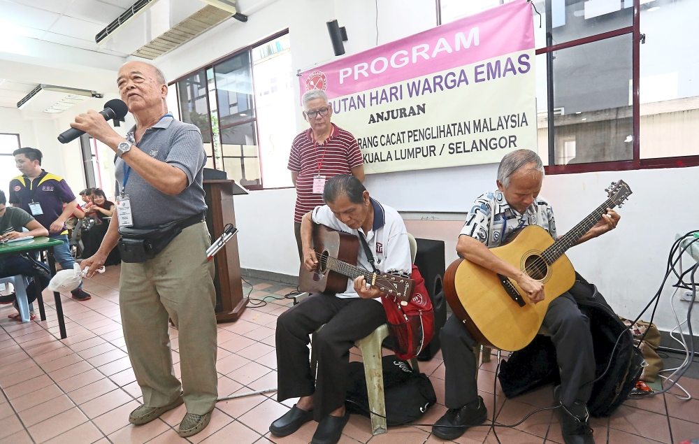 The senior citizens took to the stage to showcase their talent with singing sessions.