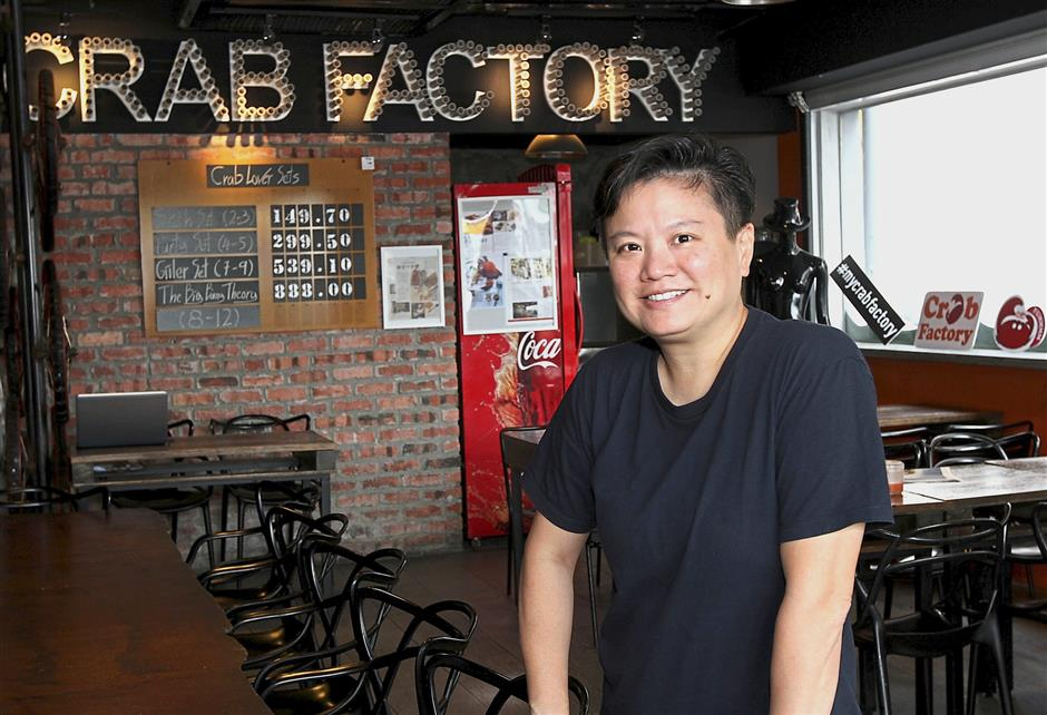 Ooi says Crab Factory focuses on serving the freshest seafood in its signature flavours.