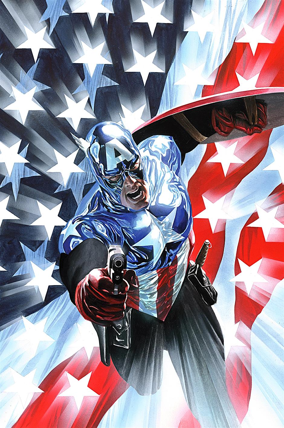 Cap pistol: After the 'death' of Steve Rogers, Bucky Barnes took up the mantle of Captain America, and started packing a gun.
