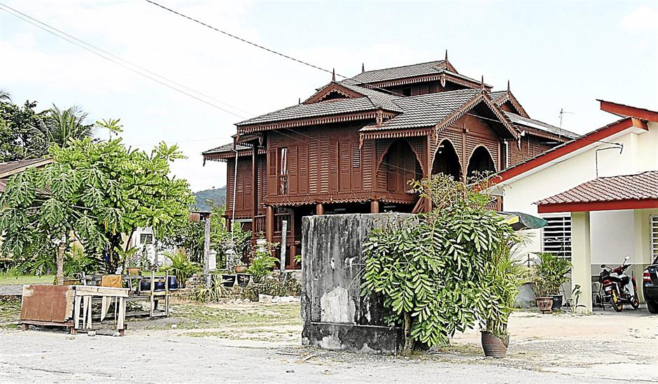 A traditional Malay house in Gugusan Manjoi in Ipoh.