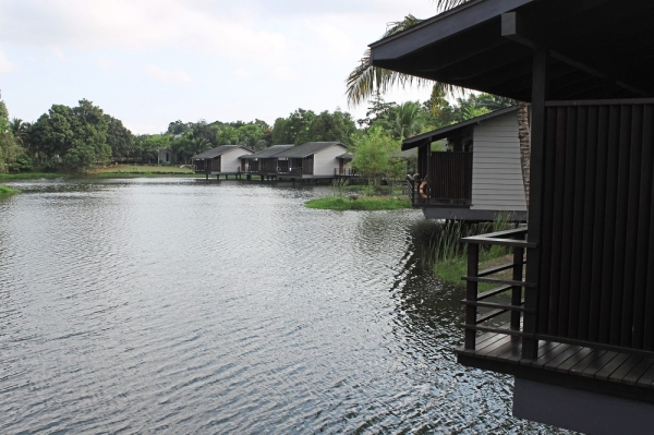 The lakeside villas at the resort.